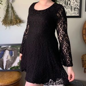 Dresses & Skirts - VTG • bell sleeve gothic lace dress